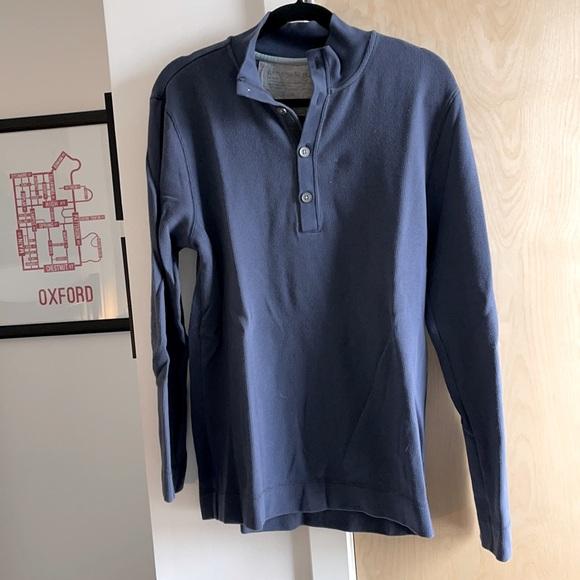 Quarter button up long sleeve shirt